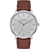 Mens Nixon The Porter Leather Watch A1058-1113