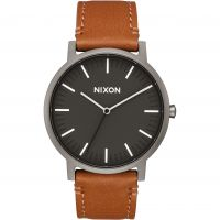 Unisex Nixon The Porter Leather Watch A1058-2494
