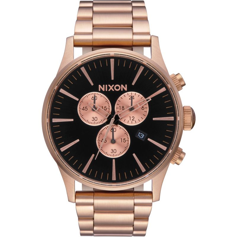 Mens Nixon The Sentry Chrono Chronograph Watch A386-1932