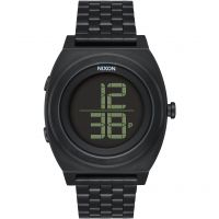 Mens Nixon The Time Teller Digi SS Watch