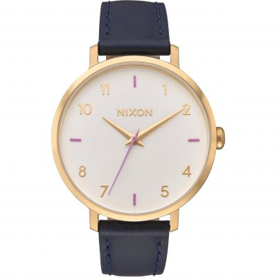 Nixon The Arrow Leather Unisex horloge Blauw A1091-151