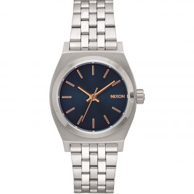 Nixon The Medium Time Teller Unisex horloge Zilver A1130-2195