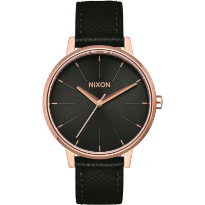 Nixon The Kensington Leather Unisexklocka Svart A108-1098