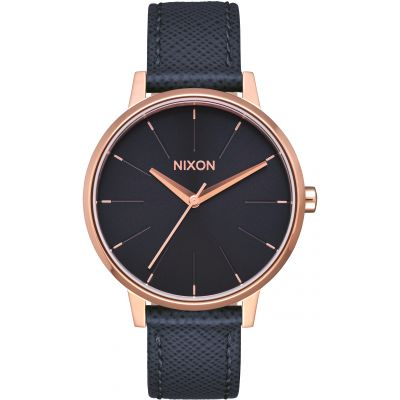 Nixon The Kensington Leather Unisex horloge Zwart A108-2195