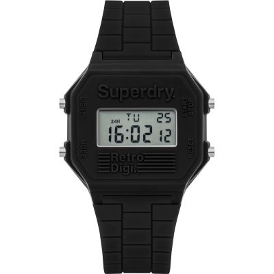 Mens Superdry Retro Digi Alarm Watch SYG201B