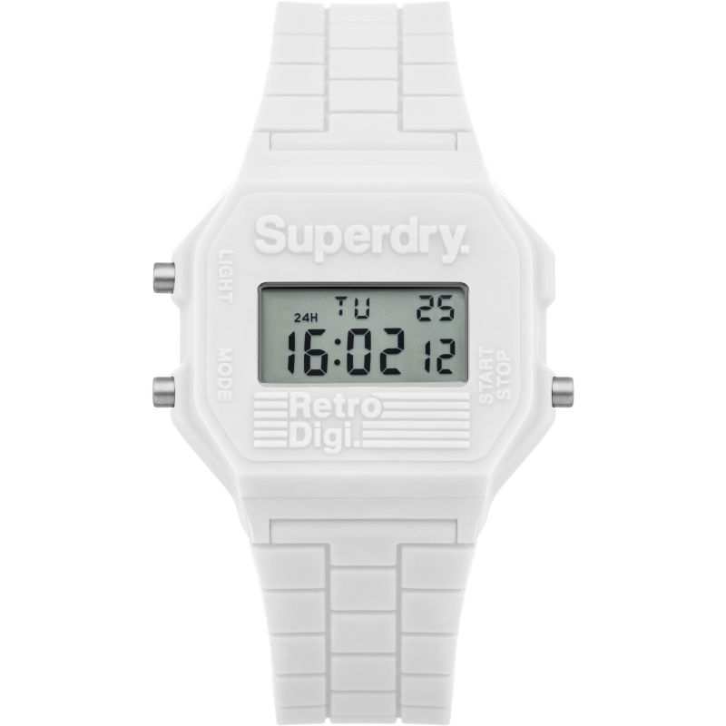 Ladies Superdry Mini Retro Digi Alarm Chronograph Watch SYL201W