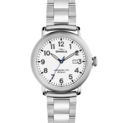 Shinola Runwell 41mm Stainless Steel 3 Link Herrklocka S0120001110