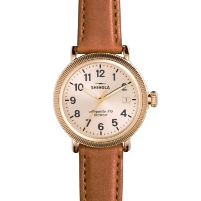 Shinola Runwell Coin Edge 38mm Bourbon Strap Unisexklocka S0120001108