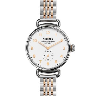 Shinola Canfield 38mm Sub Second Rose Gold 7 Link Unisexkronograf S0120004468