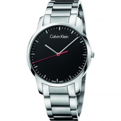 Calvin Klein City Polished Herrenuhr in Silber K2G2G141