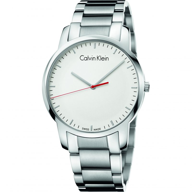 Mens Calvin Klein City Polished Watch K2G2G1Z6