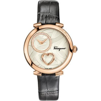 Ladies Salvatore Ferragamo Cuore Diamond Watch FE2050016