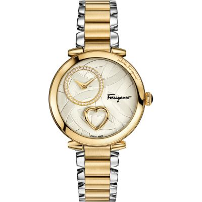 Ladies Salvatore Ferragamo Cuore Diamond Watch FE2080016