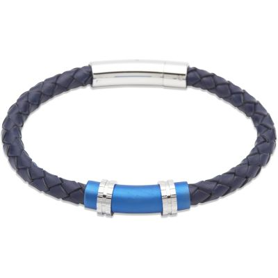 Herren Unique & Co Armband Edelstahl B318BLUE/21CM
