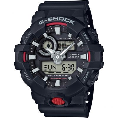 Mens Casio G-Shock Alarm Chronograph Watch GA-700-1AER
