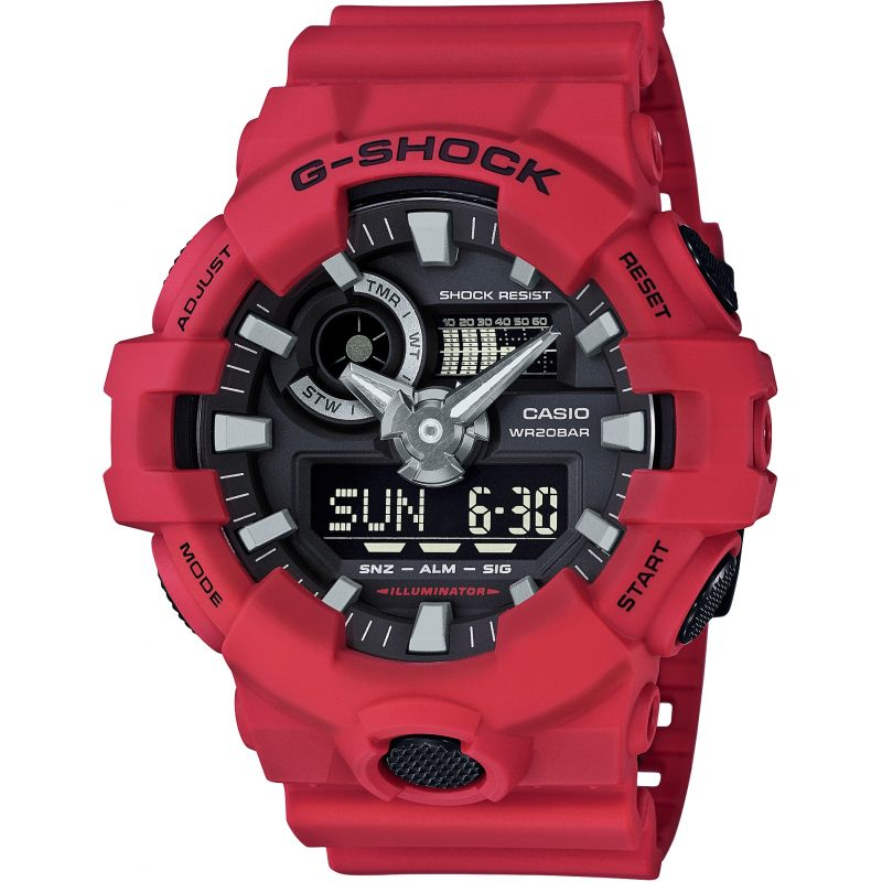 Mens Casio G-Shock Alarm Chronograph Watch GA-700-4AER