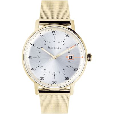 Paul Smith Gauge Mesh Bracelet Herenhorloge Goud P10130