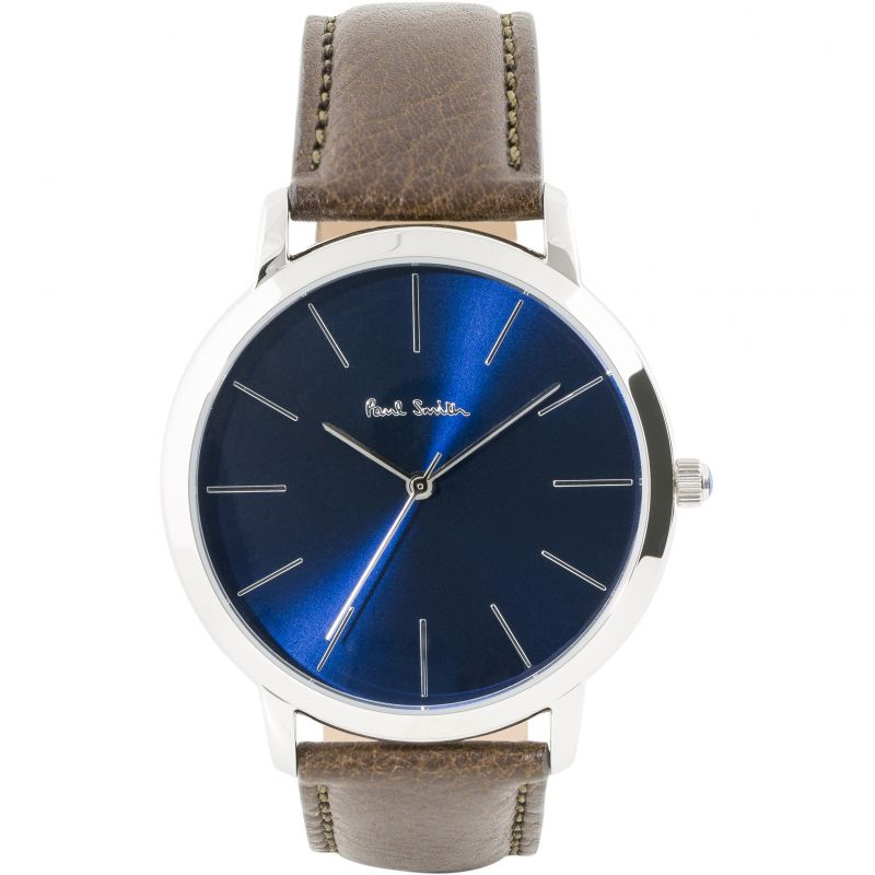 Mens Paul Smith MA Leather Strap Watch P10091