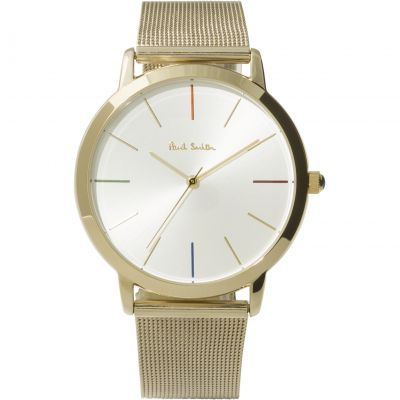 Paul Smith MA Mesh Bracelet Unisexuhr in Gold P10092
