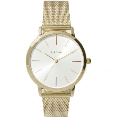 Paul Smith MA Small Mesh Unisexklocka Guld P10103