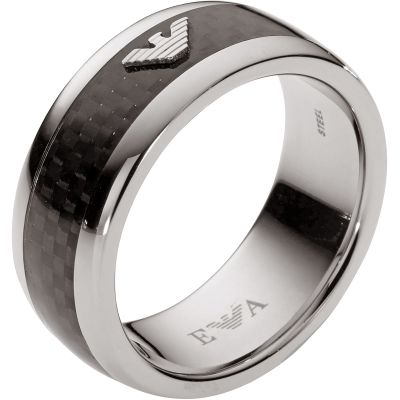 Mens Emporio Armani Stainless Steel Size S Ring EGS1602040510
