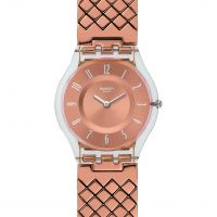 Ladies Swatch Pink Cushion Watch