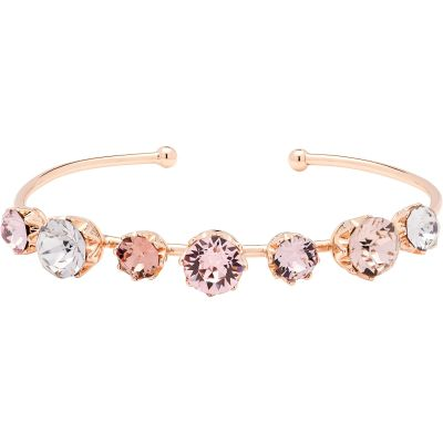 Ladies Ted Baker Rose Gold Plated Cheska Crystal Crown Ultrafine Bangle TBJ1331-24-34