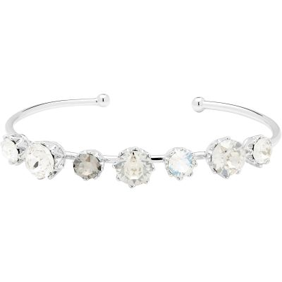Ladies Ted Baker Silver Plated Cheska Crystal Crown Ultrafine Bangle TBJ1331-01-230