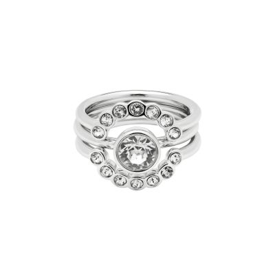 Biżuteria damska Ted Baker Jewellery Cadyna Concentric Crystal Ring Size ML TBJ1317-01-02SM