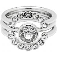 Ladies Ted Baker Silver Plated Cadyna Concentric Crystal Ring Size ML TBJ1317-01-02SM