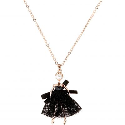 Ladies Ted Baker Rose Gold Plated Carabel Mini Ballerina Necklace TBJ1323-24-05