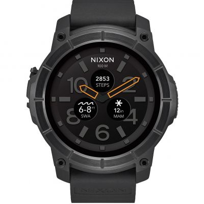 Mens Nixon The Mission Android Wear Bluetooth Smart Watch A1167-001