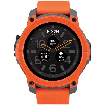 Mens Nixon The Mission Android Wear Bluetooth Smart Alarm Chronograph Watch A1167-2658