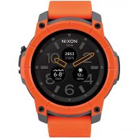 Mens Nixon The Mission Android Wear Bluetooth Smart Alarm Chronograph Watch