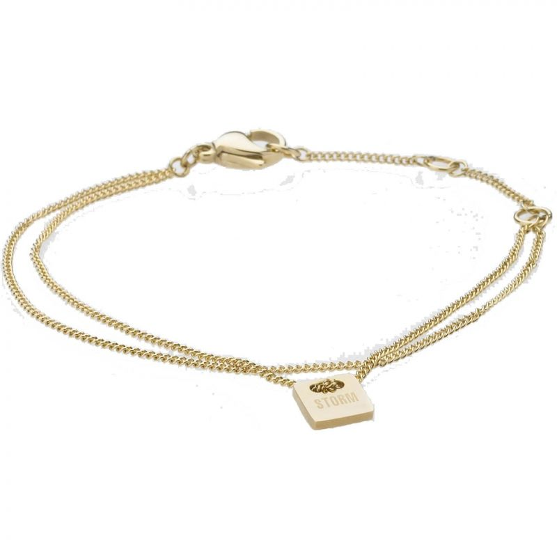 Ladies STORM Gold Plated Mini Tag Necklace MINI-TAG-BRACELET-GOLD