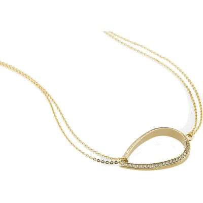 Ladies STORM Gold Plated Elipsia Necklace ELIPSIA-NECKLACE-GOLD