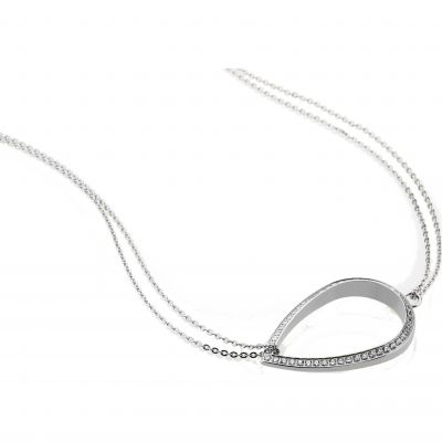 Ladies STORM Silver Plated Elipsia Necklace ELIPSIA-NECKLACE-SILVER