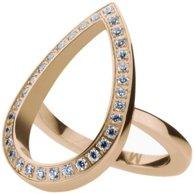 Ladies STORM Rose Gold Plated Elipsia Ring Size P ELIPSIA-RING-ROSEGOLD-P