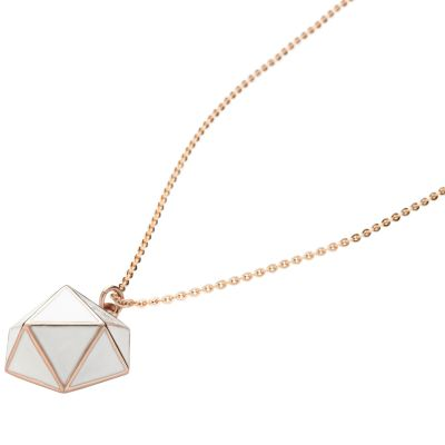 Ladies STORM Rose Gold Plated Geo Necklace GEO-NECKLACE-ROSE-GOLD