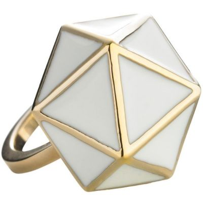Ladies STORM Gold Plated Geo Ring Size L GEO-RING-GOLD-L
