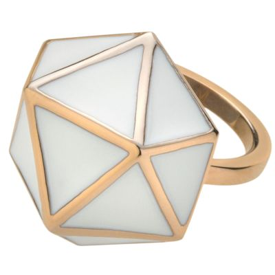 Ladies STORM Rose Gold Plated Geo Ring Size L GEO-RING-ROSEGOLD-L