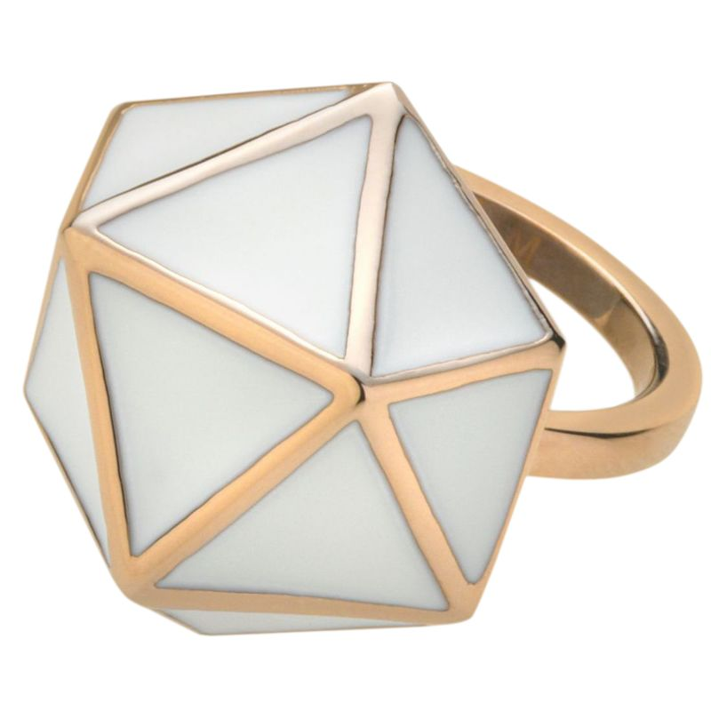 Ladies STORM Rose Gold Plated Geo Ring Size P GEO-RING-ROSEGOLD-P