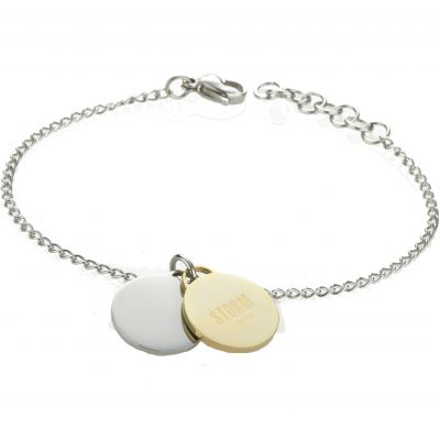 Ladies STORM Two-tone steel/gold plate Alana Disc Bracelet ALANA-DISC-BRACELET-GOLD