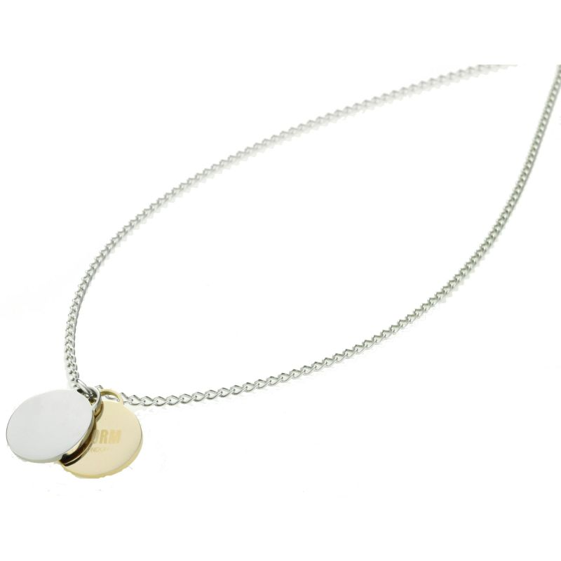 Ladies STORM Two-tone steel/gold plate Alana Disc Necklace ALANA-DISC-NECKLACE-GOLD