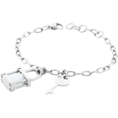 Ladies STORM Silver Plated Onyxia Bracelet 9980697/S