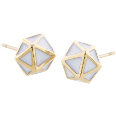 Ladies STORM Gold Plated Geo Earrings GEO-EARRING-GOLD