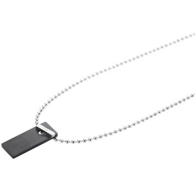 Mens STORM Stainless Steel Kempa Necklace KEMPA-PENDANT-BLACK