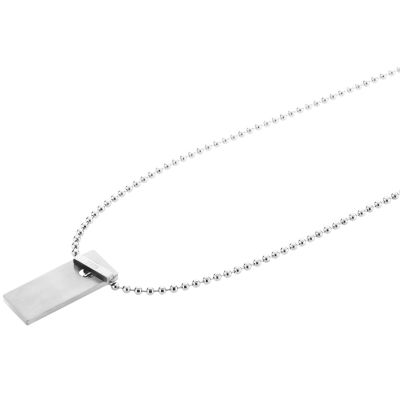 Mens STORM Stainless Steel Kempa Necklace KEMPA-PENDANT-SILVER