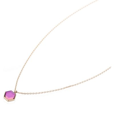 Ladies STORM Rose Gold Plated Mimoza Necklace MIMOZA-NECKLACE-ROSE-GOLD