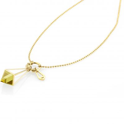 Ladies STORM PVD Gold plated Marizza Necklace MARIZZA-NECKLACE-GOLD